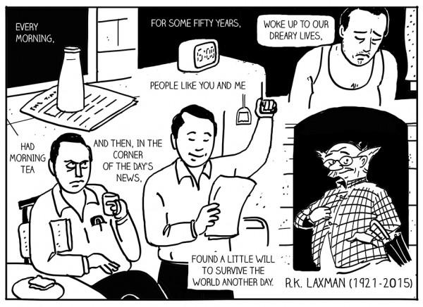 RK laxman tribute